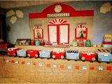 Train themed Birthday Party Decorations Kara 39 S Party Ideas Vintage Train Station Birthday Party