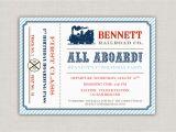 Train Ticket Birthday Invitation Template Vintage Train Ticket Birthday Party Invitation by