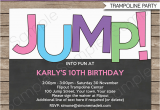 Trampoline Birthday Party Invitations Free Trampoline Birthday Party Invitations Invitation Template