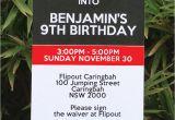 Trampoline Birthday Party Invitations Free Trampoline Birthday Party Invitations Printable Templates