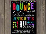 Trampoline Park Birthday Party Invitations Bounce Party Invitation Trampoline Park Birthday Party