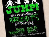 Trampoline Park Birthday Party Invitations Jump Trampoline Park Birthday Party Invitation Digital Design