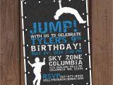 Trampoline Park Birthday Party Invitations Jump Trampoline Park Birthday Party Invitation