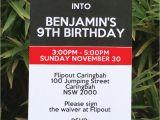 Trampoline Park Birthday Party Invitations Trampoline Birthday Party Invitations Printable Templates