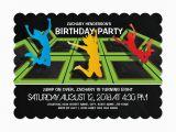 Trampoline Park Birthday Party Invitations Trampoline Park Kids Birthday Party Kids 2 12 Birthday