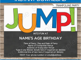 Trampoline Park Birthday Party Invitations Trampoline Party Invitations Birthday Party Template