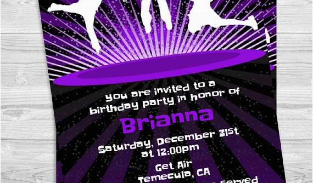 Download By SizeHandphone Tablet Desktop Original Size Back To Trampoline Park Birthday Party Invitations