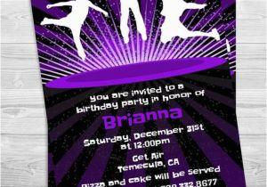 Trampoline Park Birthday Party Invitations Printable Invitation