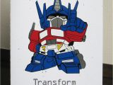 Transformers Birthday Cards Transformer Birthday Card Vinyl Crafting Creatures
