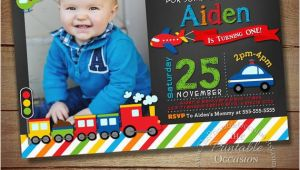 Transportation Birthday Party Invitations Transportation Birthday Invitation Transportation