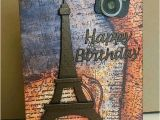Travel themed Birthday Cards Altered Scrapbooking Travel themed Pivot Birthday Card