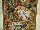 Travel themed Birthday Cards Vintage Style Travelling Birthday Kim Dellow