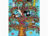 Tree Of Life Birthday Card Cat Tree Of Life 2 Greeting Card Zazzle
