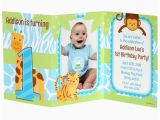 Tri Fold Birthday Invitations Safari 1st Birthday Boy Personalized Tri Fold Invitation