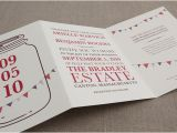 Tri Fold Birthday Invitations Wedding Invitation Templates Tri Fold Wedding Invitations