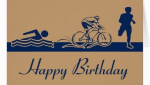 Triathlon Birthday Cards Triathlon Happy Birthday Card Zazzle Com