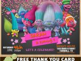 Trolls Birthday Invitations Walmart Etsy Product Troll Party Ideas Pinterest