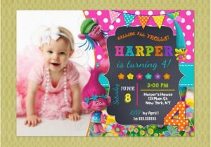 Trolls Birthday Invitations Walmart Trolls Invitation Trolls Party Trolls Birthday
