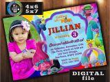 Trolls Birthday Invitations Walmart Trolls Movie Birthday Invitation Custom Digital File Any