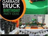 Truck Decorations for Birthday Party A Garbage Truck themed Boy 39 S 5th Birthday Party