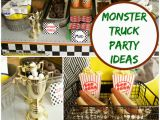 Truck Decorations for Birthday Party Monster Truck Birthday Party Ideas Moms Munchkins