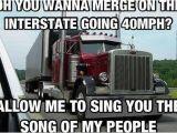 Truck Driver Birthday Meme Trucking Meme About Bad Merging Semi Pinterest