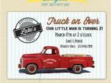 Truck themed Birthday Invitations Pickup Truck Retro Birthday Invitation Printable