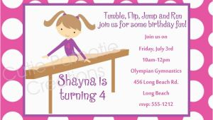 Tumbling Birthday Party Invitations 7 Best Images Of Gymnastic Birthday Invitations Printable