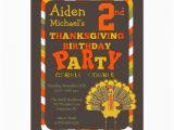 Turkish Birthday Card Thanksgiving Turkey 2nd Birthday Party 5×7 Paper