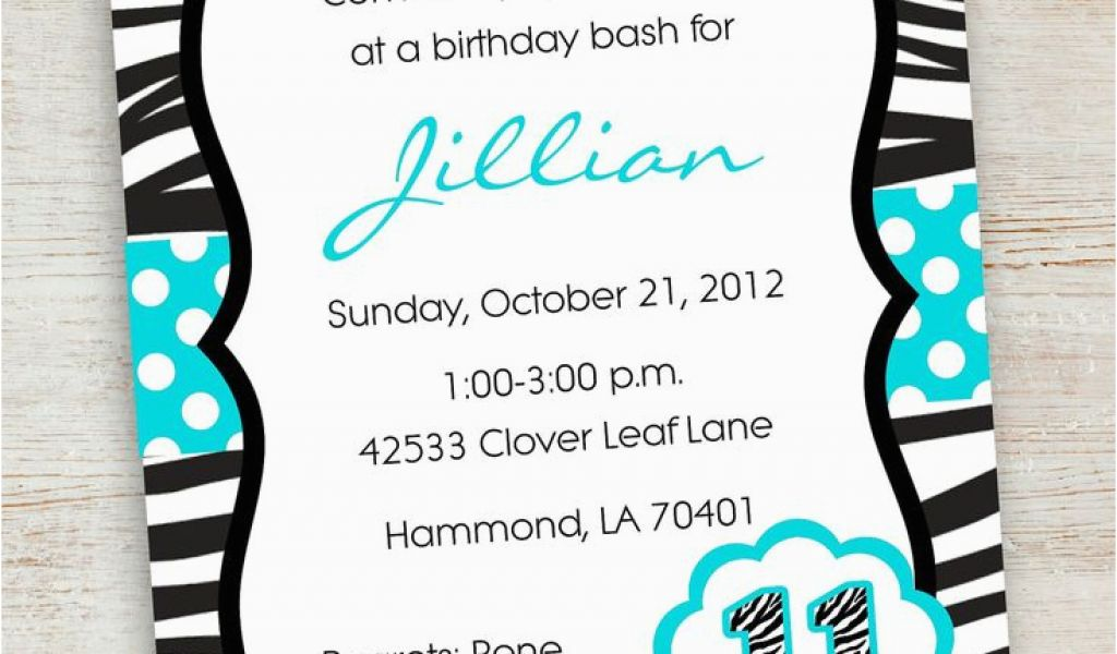 Download By SizeHandphone Tablet Desktop Original Size Back To Tween Birthday Invitations Printable Free