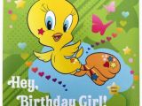 Tweety Birthday Card A Message From Tweety Birthday Greeting Card with Lights