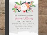 Twenty First Birthday Invitations Double Sided Twenty First Invitation Printable Birthday