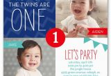 Twin Birthday Invitation Wording 12 Twin Birthday Invitations Templates Free Sample