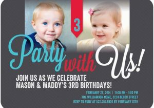 Twin Birthday Invitation Wording 12 Invitations Templates Free Sample