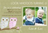 Twin Birthday Invitation Wording Twins 1st Birthday Invitation You Print