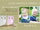 Twin Birthday Invitation Wording Twins 1st Birthday Invitation You Print