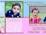 Twin Birthday Invitation Wording Twins Birthday Invitation Wording Best Party Ideas