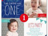 Twin Birthday Invites 12 Twin Birthday Invitations Templates Free Sample