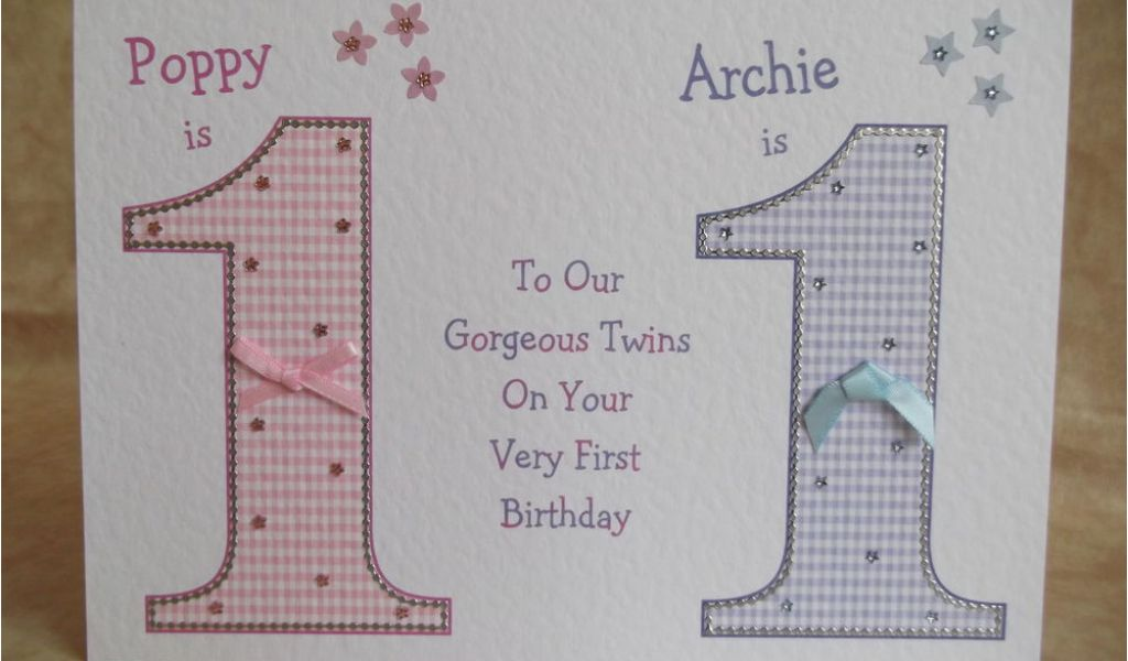 Download By SizeHandphone Tablet Desktop Original Size Back To Twins 1st Birthday Card