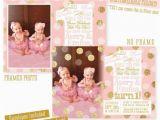 Twins 1st Birthday Card Twins First Birthday Invitations Twin Girls 1st Birthday