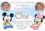 Twins First Birthday Party Invitations 12 Twin Birthday Invitations Templates Free Sample