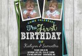Twins First Birthday Party Invitations Twin Boys Birthday Invitation Digital File Invitation Twin