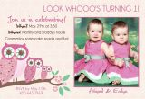 Twins First Birthday Party Invitations Twins 2nd Birthday Invitation Wording Best Party Ideas