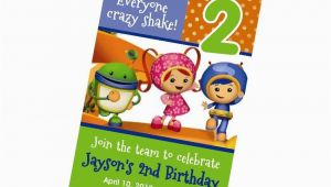 Umizoomi Birthday Invitations Custom Personalized Team Umizoomi Birthday Invitation 24hr