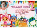 Umizoomi Birthday Invitations Personalized Team Umizoomi Party Invitations Thank You