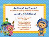 Umizoomi Birthday Invitations Printable Team Umizoomi Birthday Invitation 4×6 by