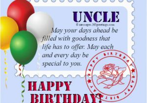 Uncle Birthday Card Messages Happy For