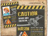 Under Construction Birthday Invitations Construction Invitation In Chalkboard Optional Construction