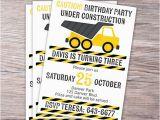 Under Construction Birthday Invitations Under Construction Birthday Invitation by Junearbordesigns