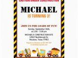 Under Construction Birthday Invitations Under Construction Birthday Party Invitation Zazzle